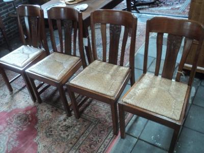 Eiken stoelen - 4 stuks (1950)