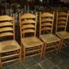 Eiken stoelen (4x)